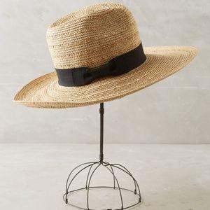 Anthropologie Coronado Rancher Straw Hat w/ Ribbon